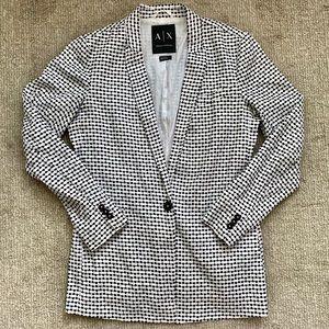 A/X ARMANI EXCHANGE Black + White Blazer